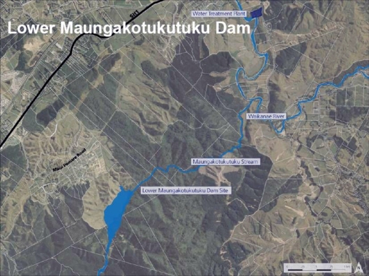 Maungakotukutuku-Dam-location-map