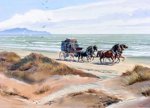 Waikanae Beach stagecoach