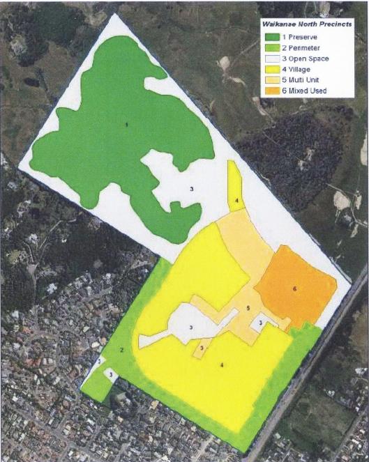 Waikanae North precincts