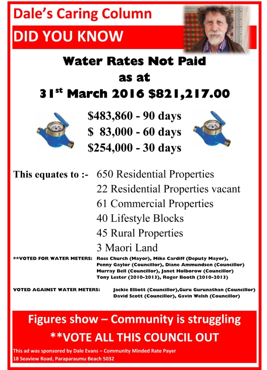 Flyer for Water meters not working