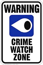 Crime Watch sign