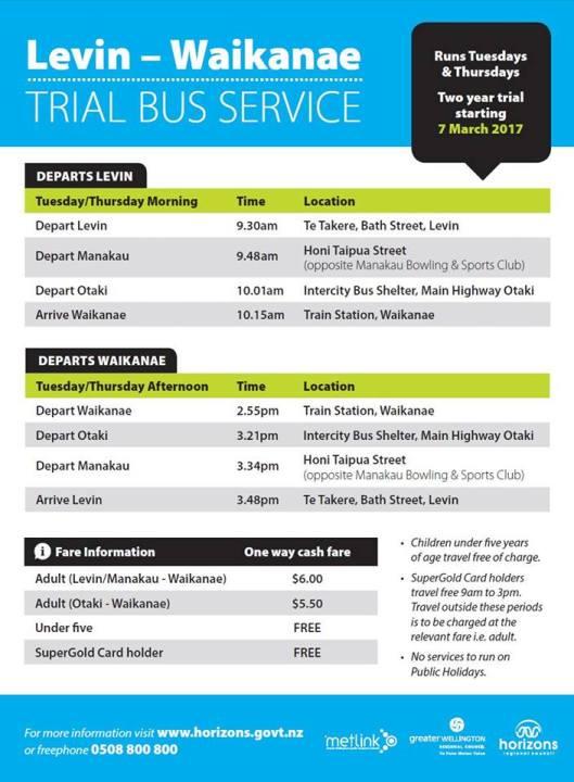 waikanae-levin-bus-timetable