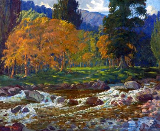 Mountain Stream at Reikorangi George E Lewens 1965