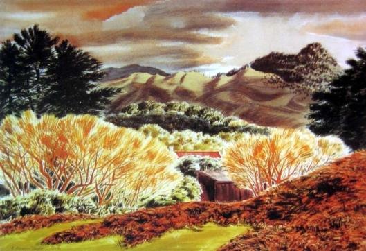 Golden Willows Ernest Mervyn Taylor 1906-1964