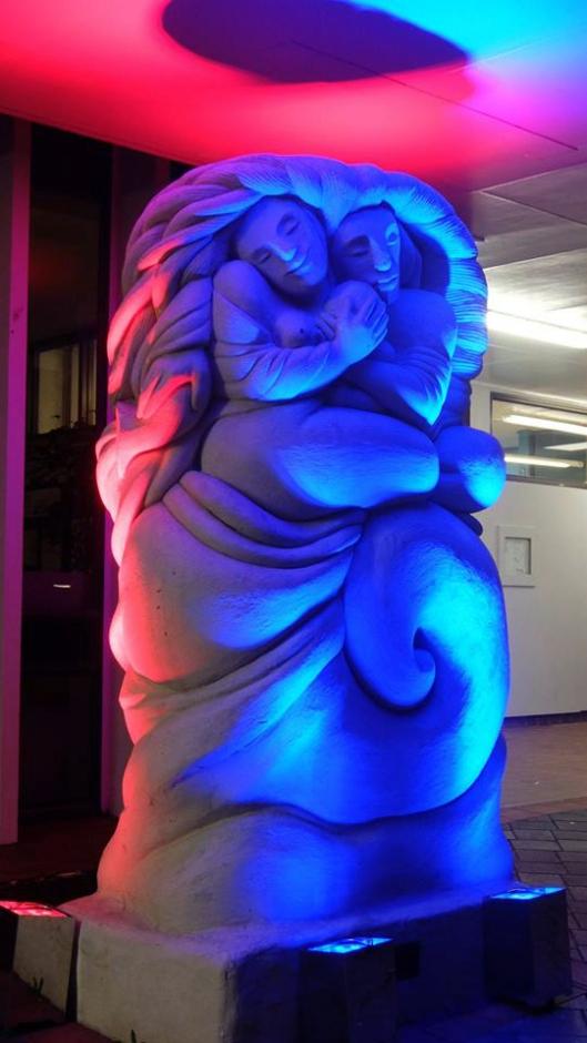 Mahara sculpture lit up