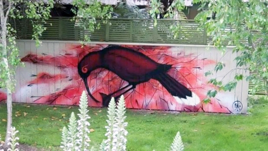 A Huia on Huia St in Waikanae painted by Theo Arraj