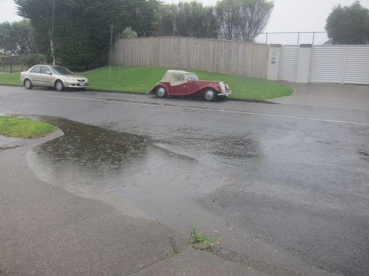 Rain and puddle