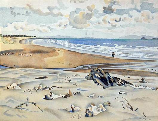 Seashore,Waikanae,1952,Rita.Angus