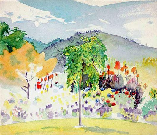 Garden,Waikanae,circa.1952,Rita.Angus