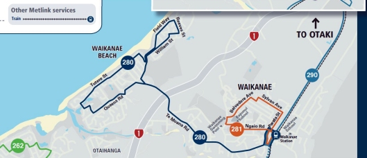 Waikanae bus map