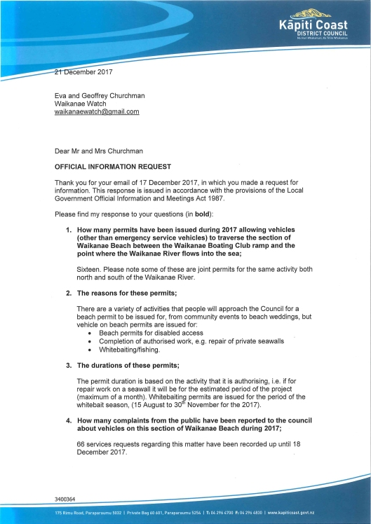 1718-104 signed response Waikanae Watch-1