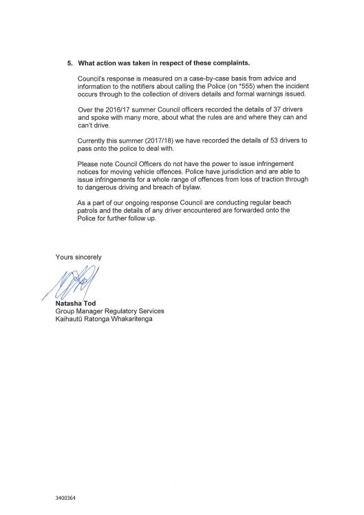 1718-104 signed response Waikanae Watch-2