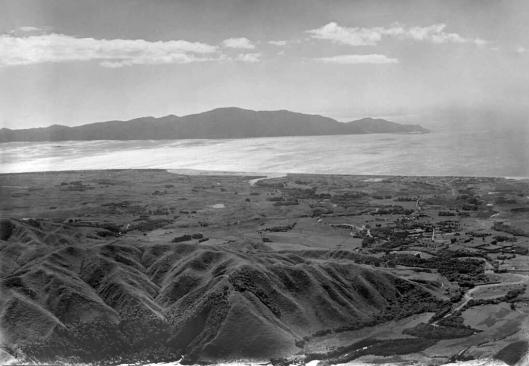 Waikanae aerial 1949