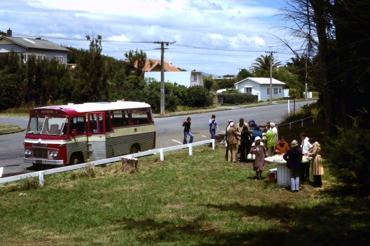 Waikanae Beach picnicers 31Dec1977