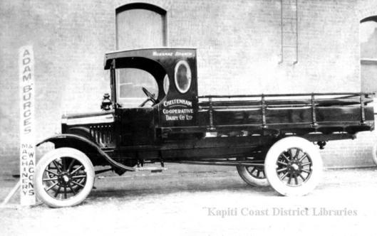 Waikanae cream truck in WW1