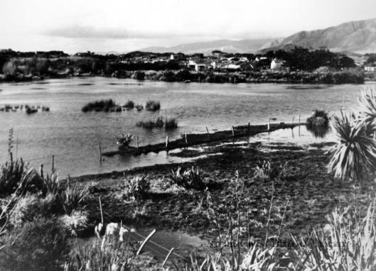 Waikanae Lagoon flood 1956