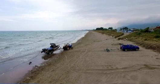 Waikanae Beach Fishing Couple