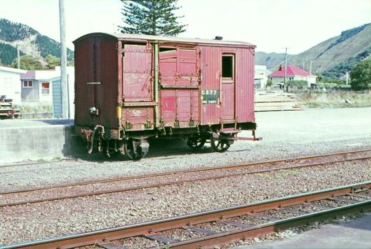 Waikanae station 4-wheel horse box wagon late 1960s