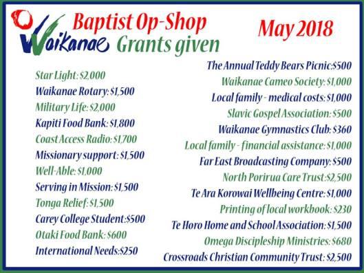 Baptist OpShop May