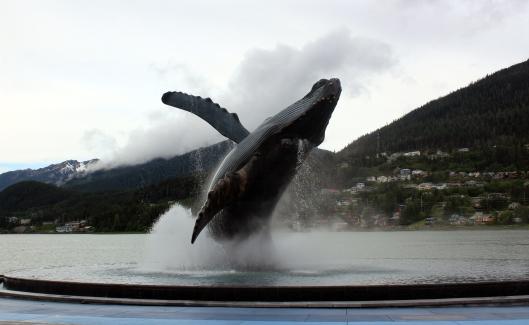 Juneau humpback statue