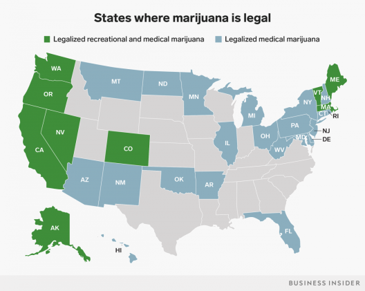 US Weed map