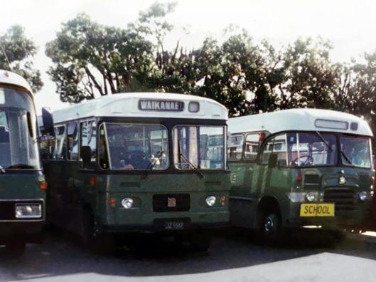 Waikanae bound bus Pram early 1990s