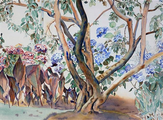 Plum.tree.at.Waikanae,1952,Rita.Angus