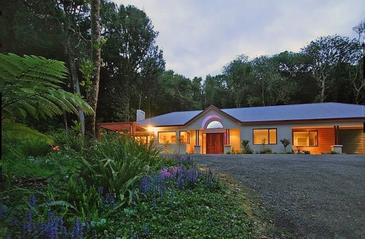 Huia St House in the forest