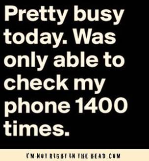 smartphone busyness