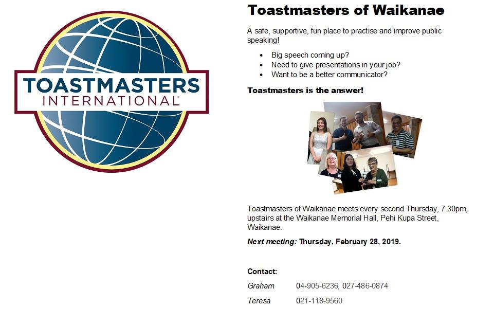 Toastmasters in Waiky