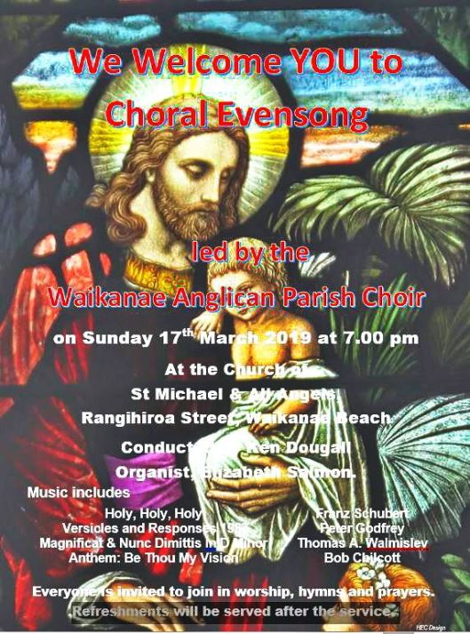 Evensong Poster 17 Mar 19