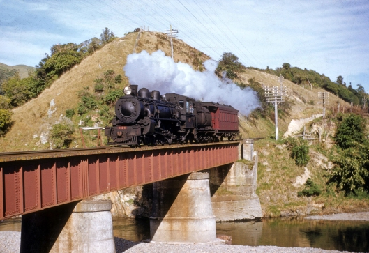Waikanae River bridge 1950s Ab