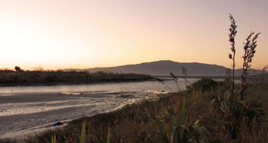 Waikanae River mouth twilight