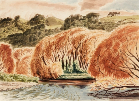 Golden Willows Waikanae by E Mervyn Taylor