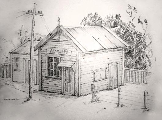 Reikorangi post office sketch