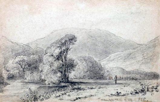 Waikanae-Valley-and-river Te Papa 1849 Swainson