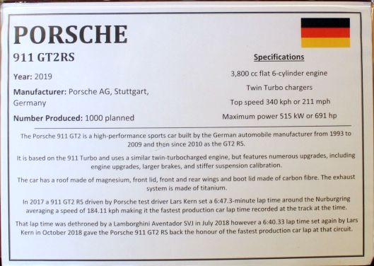 2019 Porsche info