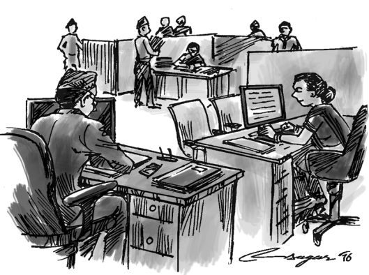 office bureaucrats