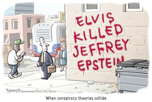 cartoon Elvis and Epstein