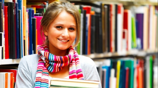 girl student with-books