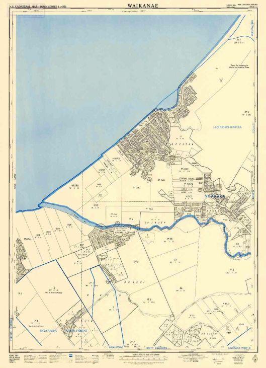 Waikanae map 1963