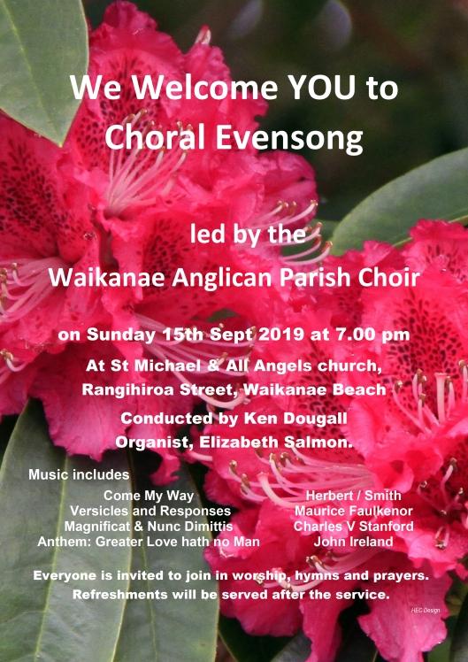 Choral Evensong 2019. 15 Sep 2019
