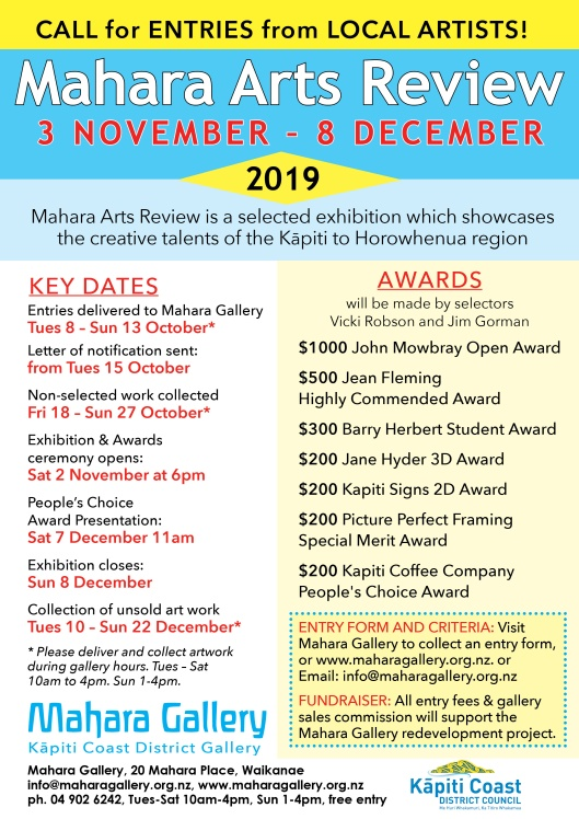Mahara Arts Review Nov Dec 2019