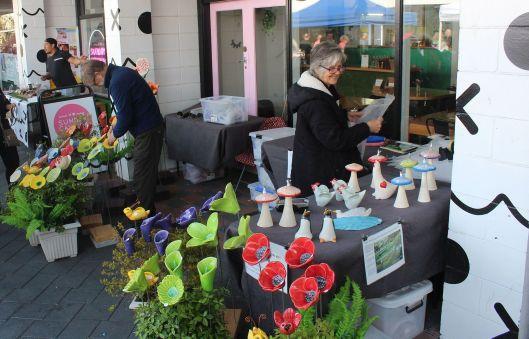Market Day Mushroom lady