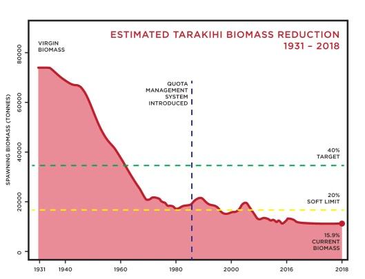 Tarakihi biomass
