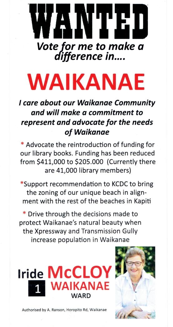 Wanted for Waikanae