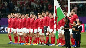 ABs v Wales the team sings their stirring anthem