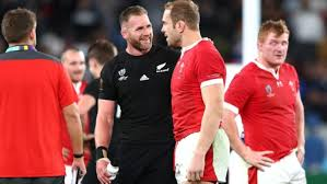 ABs v Wales two captains congratulate each other