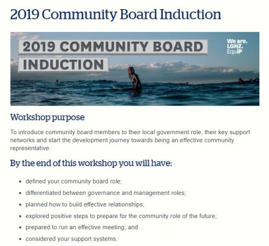 Community Boards Induction