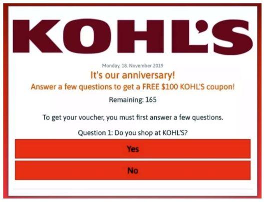 Kohls scam